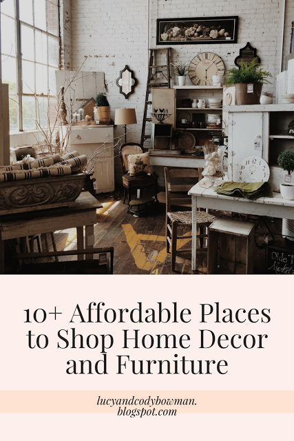 10+ Affordable Places to Shop Home Decor and Furniture