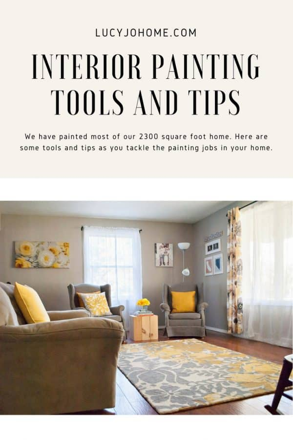 Interior painting tools and tips