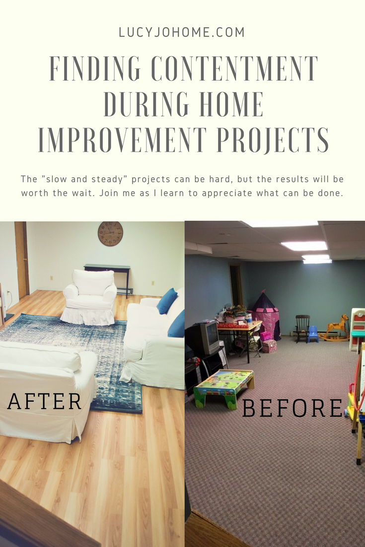 Finding Contentment During Home Improvement Projects