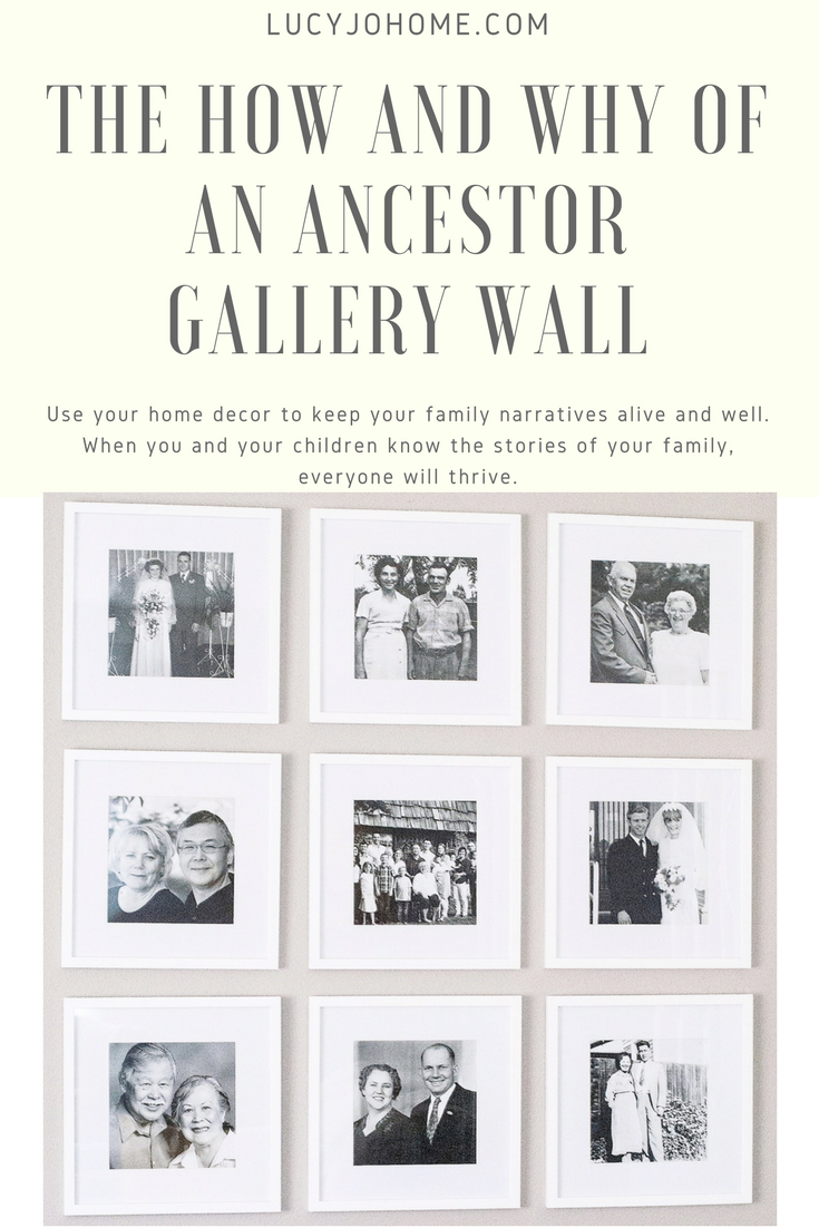 The How and Why of an Ancestor Gallery Wall