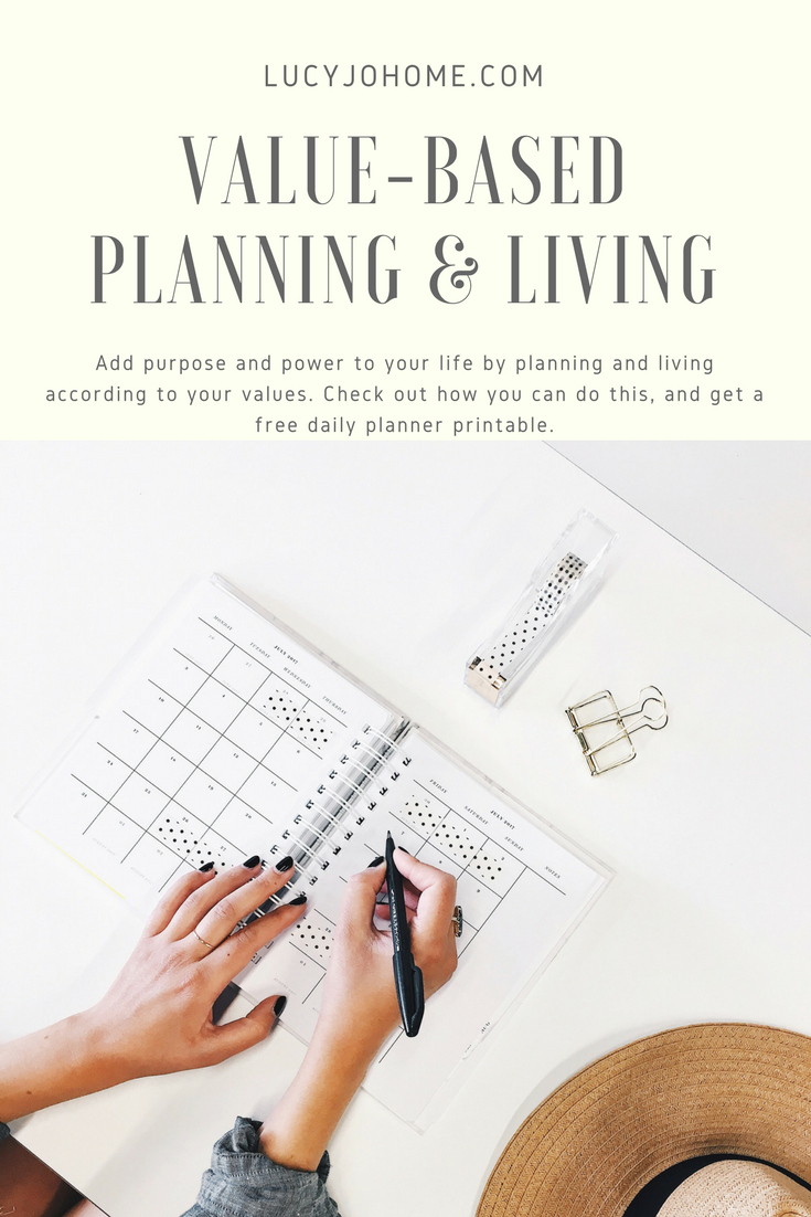 Value-Based Planning and Living