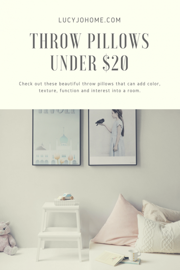 Throw Pillows Under $20