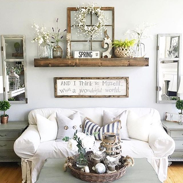 Decorate Wall Behind Sofa