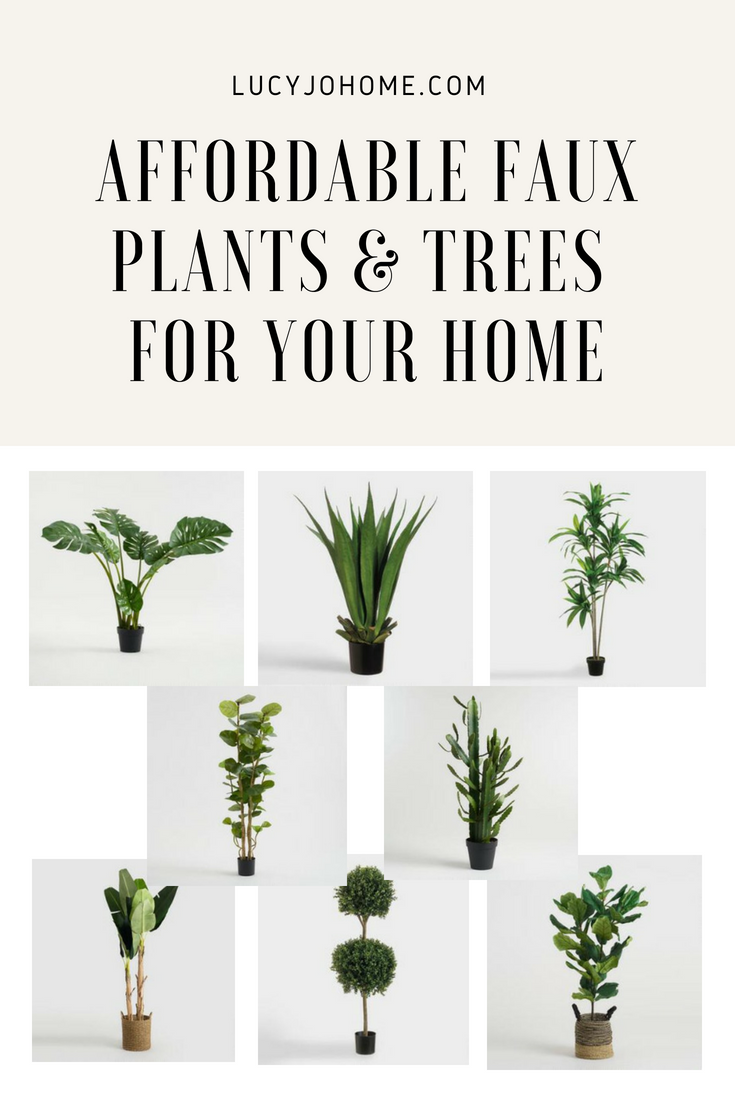 affordable faux plants and tree for your home