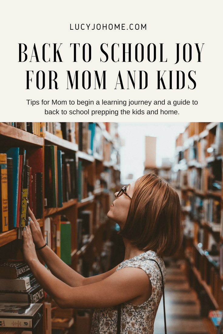 Back to School Joy for Mom and Kids